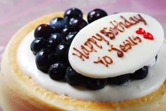 Gâteau d'anniversaire de Jésus Photographie stock libre de droits