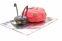 Gâteau d'anniversaire de Ladybird Images stock