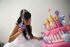 Gâteau d'anniversaire de Quinceanera Image libre de droits