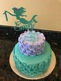 Gâteau d'anniversaire de sirène Photo stock