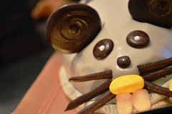 Gâteau d'anniversaire drôle de souris Image libre de droits