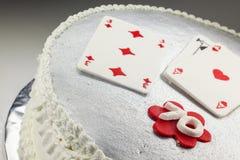 Gâteau d'anniversaire 70 heureux Photos libres de droits