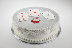 Gâteau d'anniversaire 70 heureux Photos stock