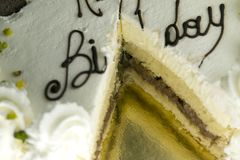 Gâteau d'anniversaire pour la partie Photographie stock libre de droits