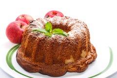 Gâteau d'Apple et de miel Photos stock