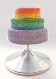 Gâteau d'arc-en-ciel Photographie stock