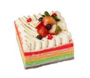 Gâteau d'arc-en-ciel Photos libres de droits