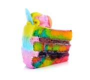 Gâteau d'arc-en-ciel photo libre de droits
