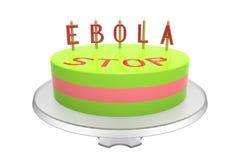 Gâteau d'Ebola Image stock