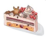 Gâteau d'hiver Images stock