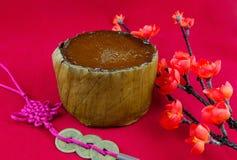 Gâteau d'an neuf de chinois traditionnel Photos libres de droits
