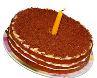 Gâteau d'an neuf et de Noël Images stock