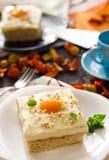 Gâteau d'oeufs sur le plat Photographie stock