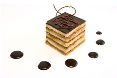 Gâteau d'opéra images libres de droits