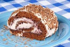 Gâteau de bûche de chocolat Image libre de droits