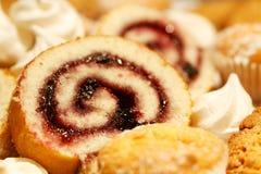 Gâteau de bûche Photos libres de droits