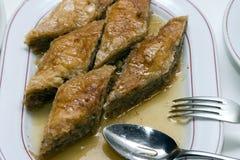Gâteau de baklava Photo stock
