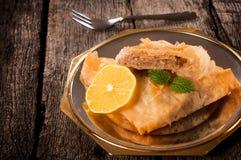 Gâteau de baklava Photos stock