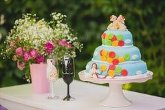 Gâteau de baloon de mariage Photos libres de droits