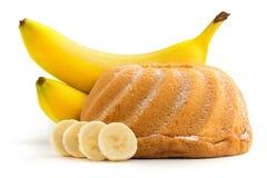 Gâteau de banane Photos libres de droits
