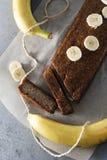 Gâteau de banane Photographie stock libre de droits