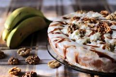 Gâteau de banane Images stock