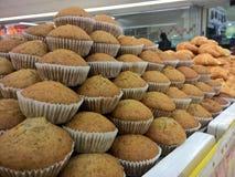 Gâteau de banane au marché Image stock