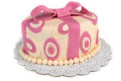 Gâteau de bande de point de polka Photos stock