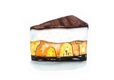 Gâteau de banoffee Images stock