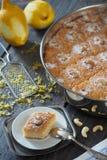 Gâteau de Basbousa images libres de droits