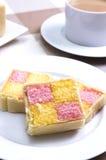 Gâteau de Battenberg Photographie stock libre de droits