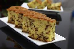 Gâteau de beurre de riz de chocolat Photographie stock
