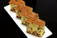 Gâteau de beurre de riz de chocolat Images stock