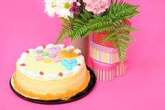 Gâteau de Birhtday Images libres de droits
