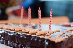 Gâteau de Birtday Photographie stock libre de droits