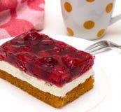 Gâteau de biscuit avec la framboise Photo libre de droits