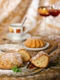Gâteau de boucle d'éponge Photo stock