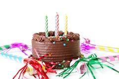 Gâteau de Brithday de chocolat Photographie stock libre de droits