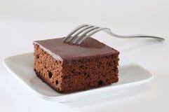 Gâteau de 'brownie'. image libre de droits