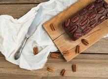 Gâteau de 'brownie' de noix de pécan Photo stock