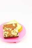 Gâteau de 'brownie' et de beurre Image libre de droits