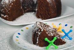 Gâteau de Bundt de chocolat Image libre de droits