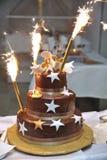 Gâteau de célébration Photos stock