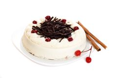 Gâteau de café Photos stock