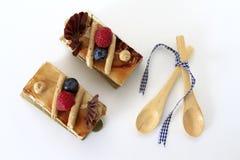 Gâteau de café Photographie stock