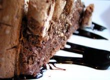 Gâteau de café de chocolat avec des noix Photographie stock libre de droits