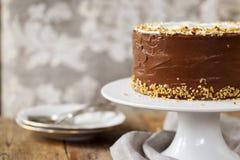 Gâteau de café et de noisette Photos stock