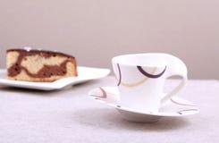 Gâteau de café express et de chocolat Photos stock