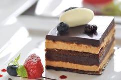 Gâteau de café ou de mousse de café images libres de droits
