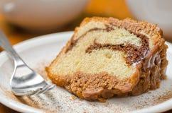 Gâteau de cannelle Photographie stock libre de droits